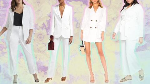 Bridal Power Suits Fit for Any City Hall Wedding | StyleCaster