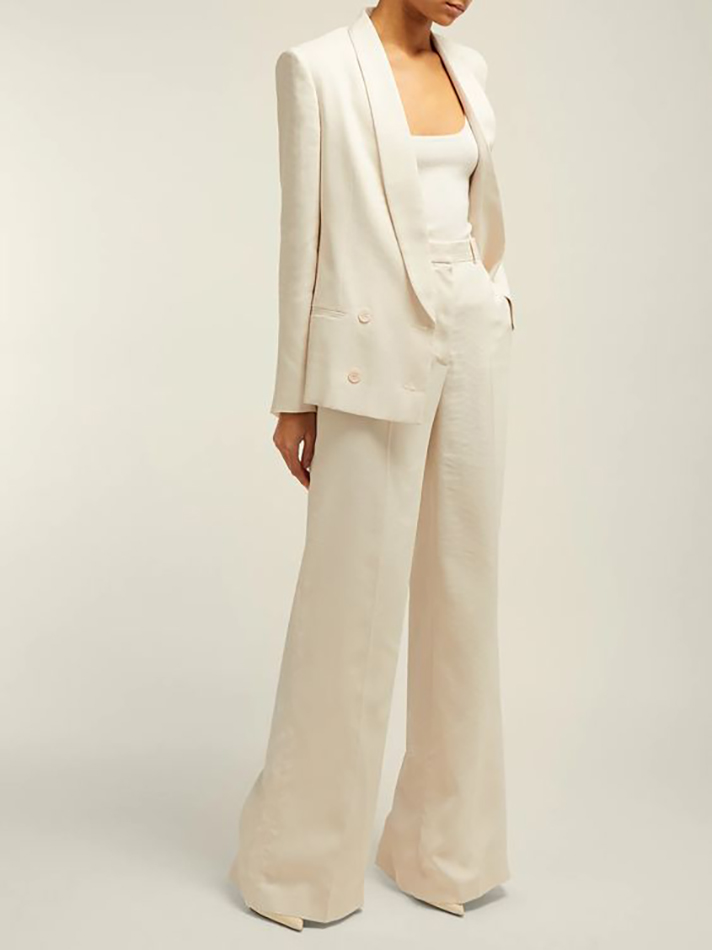 Bridal Power Suits Trend Women S Suits Fit For Weddings Of Any Kind Stylecaster