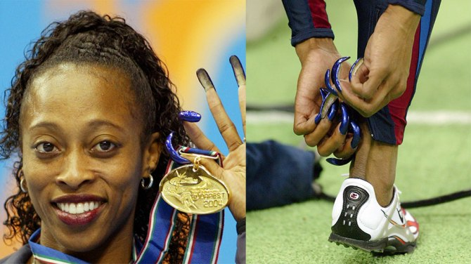 gail devers ShaCarri Richardson Joins a Lineage of Black Track Stars Setting Records In Acrylic Nails