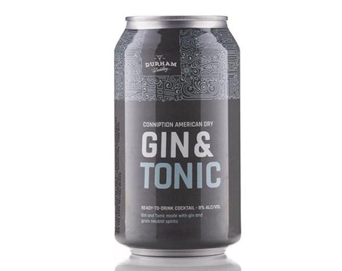 STYLECASTER | 13 Canned Cocktails for Summer Days When Beer Won't Cut It | Durham Distillery Gin and Tonic