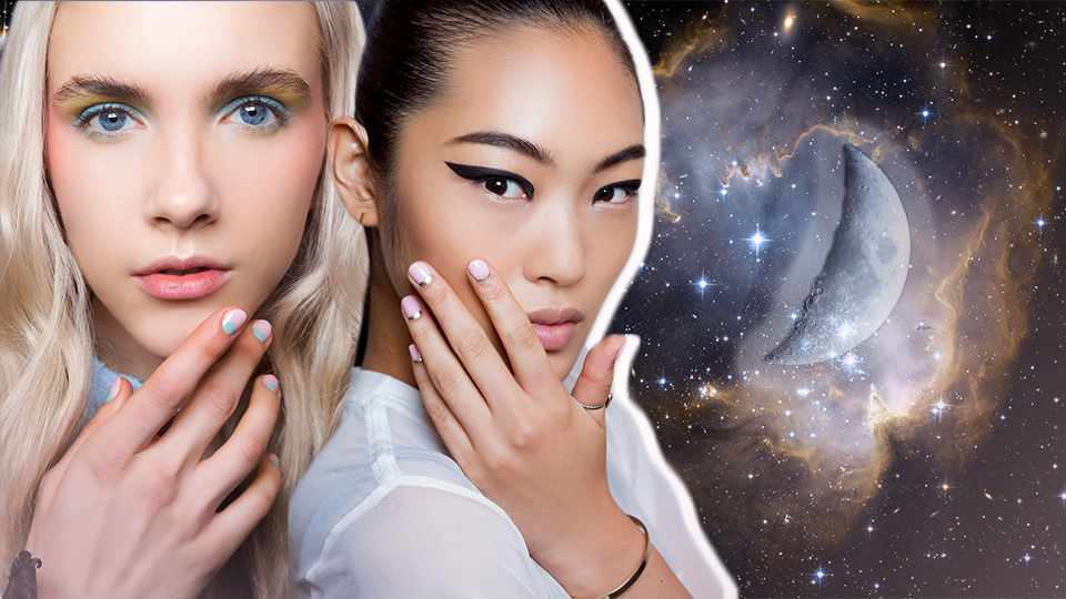 Half-Moon Nail Art is Officially the New French Manicure