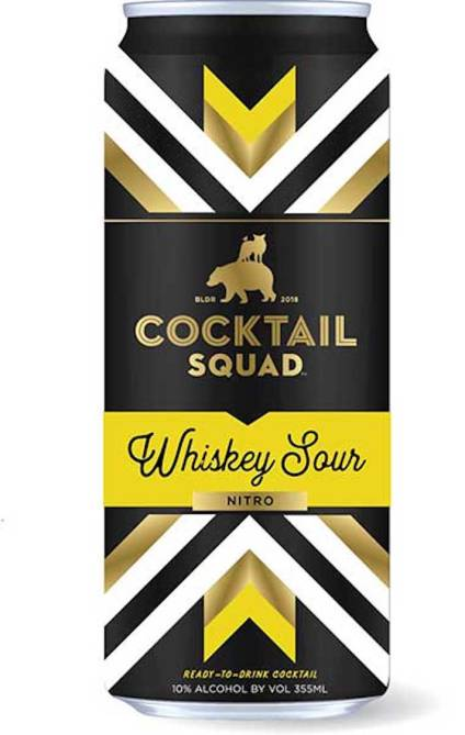 STYLECASTER | 13 Canned Cocktails for Summer Days When Beer Won't Cut It | Cocktail Squad Whiskey Sour