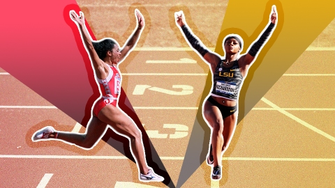 Track Star Sha'Carri Richardson Is Setting Records in Killer Acrylic Nails | StyleCaster