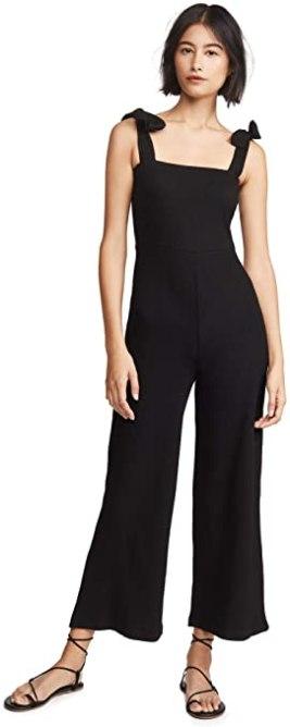 STYLECASTER | Summer Minimalist Outfits | black jumpsuit