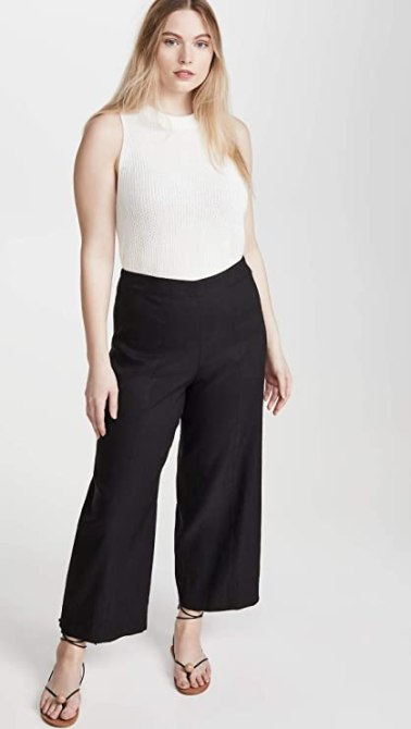 STYLECASTER | Summer Minimalist Outfits | black pants