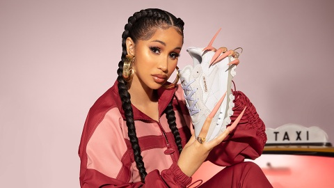 Cardi B's Latest Reebok Drop Features A Chic New Sneaker Silhouette | StyleCaster
