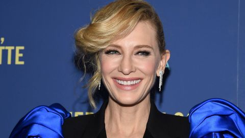 OMG, the Sleeves on Cate Blanchett's Alexander McQueen Suit Are Bigger Than My Head | StyleCaster
