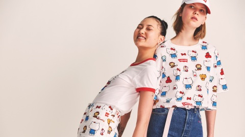 The New Levi's x Hello Kitty Collab Is Too Damn Cute for Words | StyleCaster