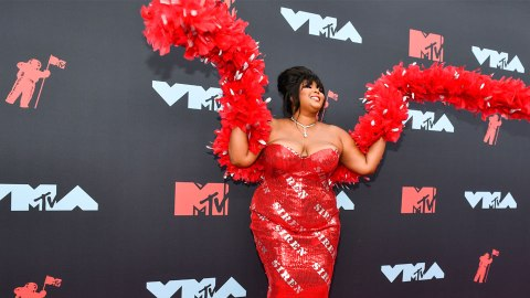Lizzo's Sizzling 'Siren' Ensemble at The MTV VMAs is Her Most Glam Look Yet | StyleCaster