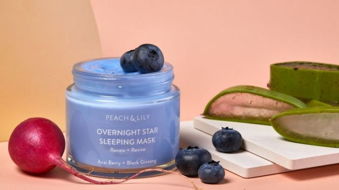 peach and lily mask