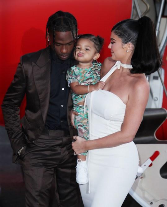 stormi travis kylie Kylie Jenner & Travis Scott Were Legit All Over Each Other At His Netflix Movie Premiere