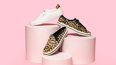 The Newest Keds x Kate Spade Collection Is Filled with Sparkles and Animal Print (!!) | StyleCaster