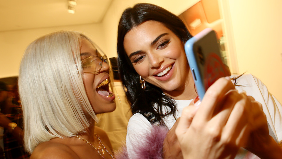 Kendall Jenner and Bella Hadid Both Looked Cool as Hell at the Renell Madrano NYFW Exhibit