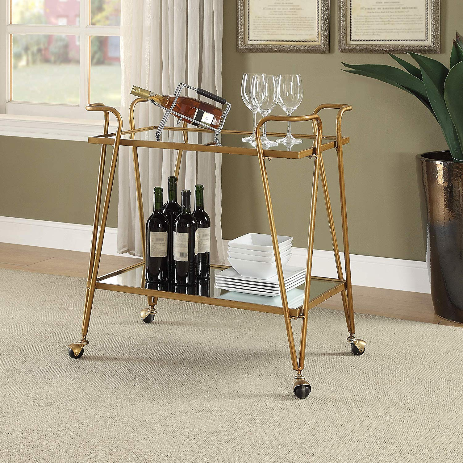 Luxe Bar Carts Under $150 on Amazon | STYLECASTER