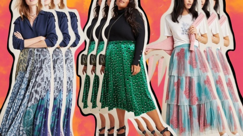 Every Long Pleated Skirt We are Seriously Loving for Fall Right Now | StyleCaster