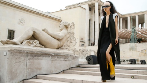 The Rick Owens Fashion Show Is Very Aliens-Meets-Egypt—and I Don't Know How to Feel | StyleCaster