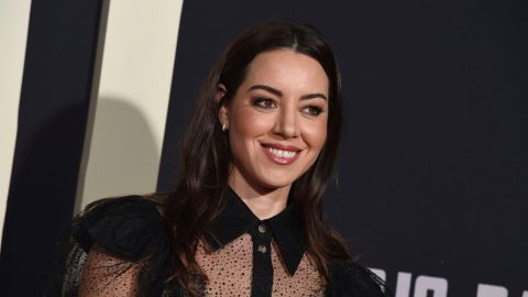 I'm Honestly Living for Aubrey Plaza's Sexy See-Through Shirt Look | StyleCaster