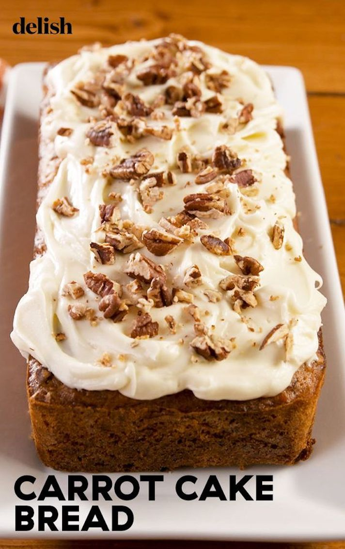 STYLECASTER | Easy Quick Breads That You Really Can't Mess Up | Carrot Cake Bread