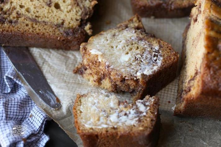 STYLECASTER | Easy Quick Breads That You Really Can't Mess Up | Brown Sugar Cinnamon Swirl Bread.
