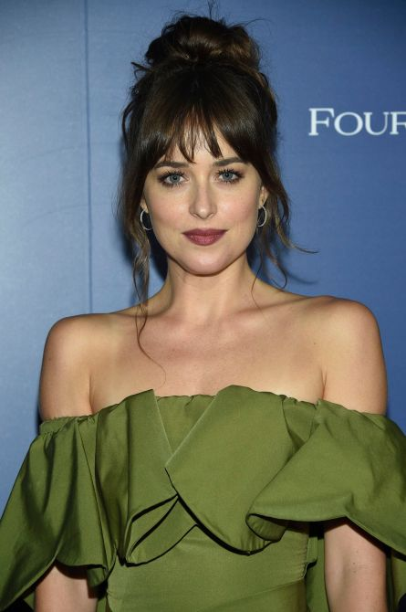 dakota johnson bangs