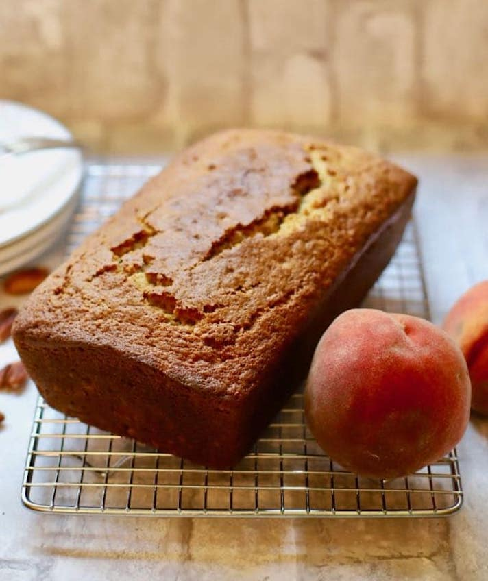 STYLECASTER | Easy Quick Breads That You Really Can't Mess Up | Fresh Peach Bread