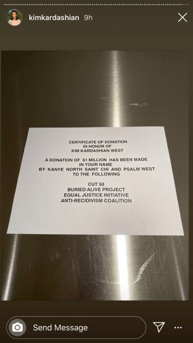kim kardashian birthday Hi—Kanye West Gave A $1 Million Charity Donation In Honor of Kim Kardashians Birthday