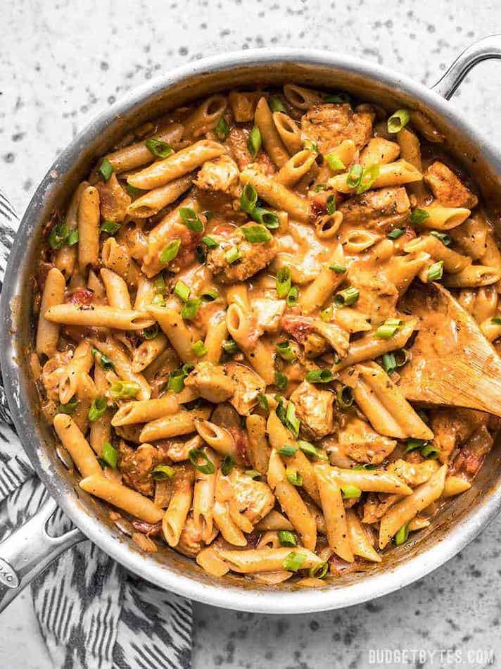 STYLECASTER   Easy Weeknight Chicken Recipes That Are Perfect for Fall   Creamy Cajun Chicken Pasta