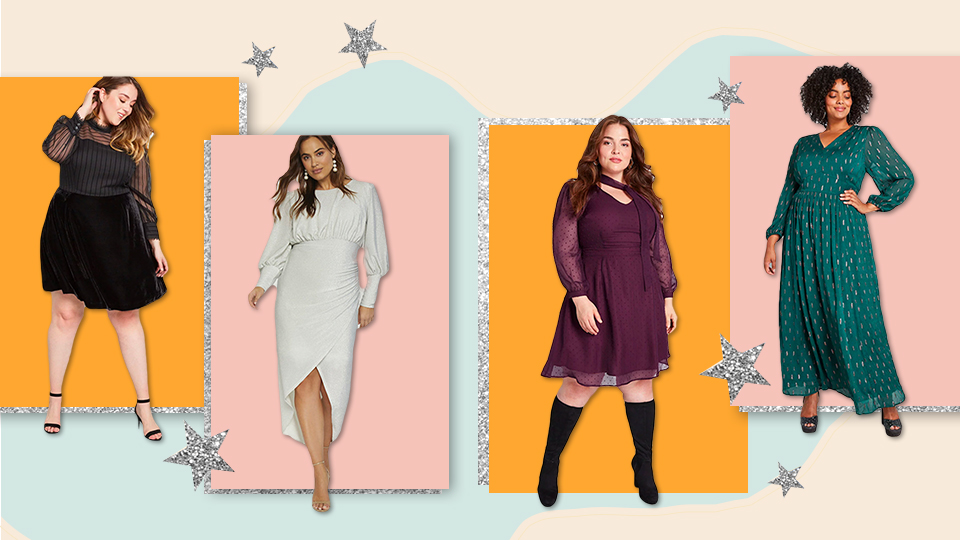21 Plus-Size Party Dresses With Sleeves, So You Can Look *Hot* Even When It's Cold