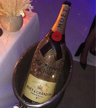 swarovski bottle Justin Biebers Wedding To Hailey Baldwin Involved Crystal Champagne & An Ex Girlfriend