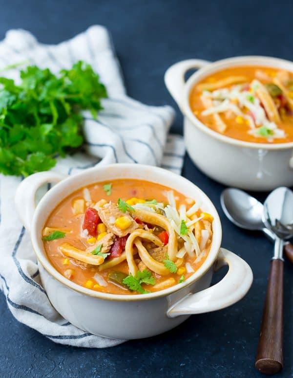 STYLECASTER | comfort food recipes | creamy enchilada chicken soup