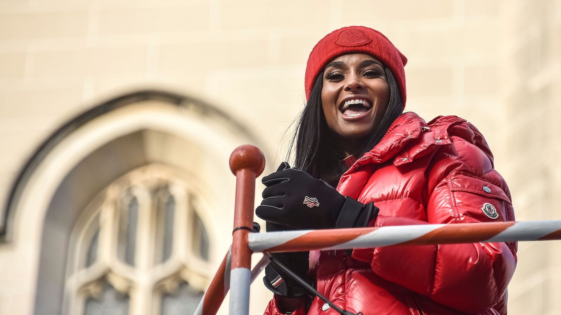 Ciara's Thanksgiving Parade All-Puffer Outfit Is a *Major* Winter Mood