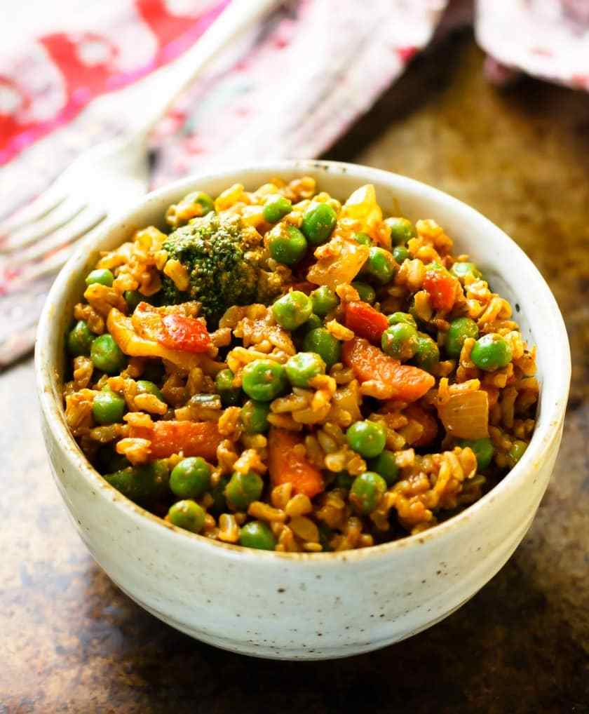 STYLECASTER | curried veggie brown rice bowl