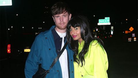 Jameela Jamil Did Her Own Red Carpet Makeup and It's a Neon Dream | StyleCaster