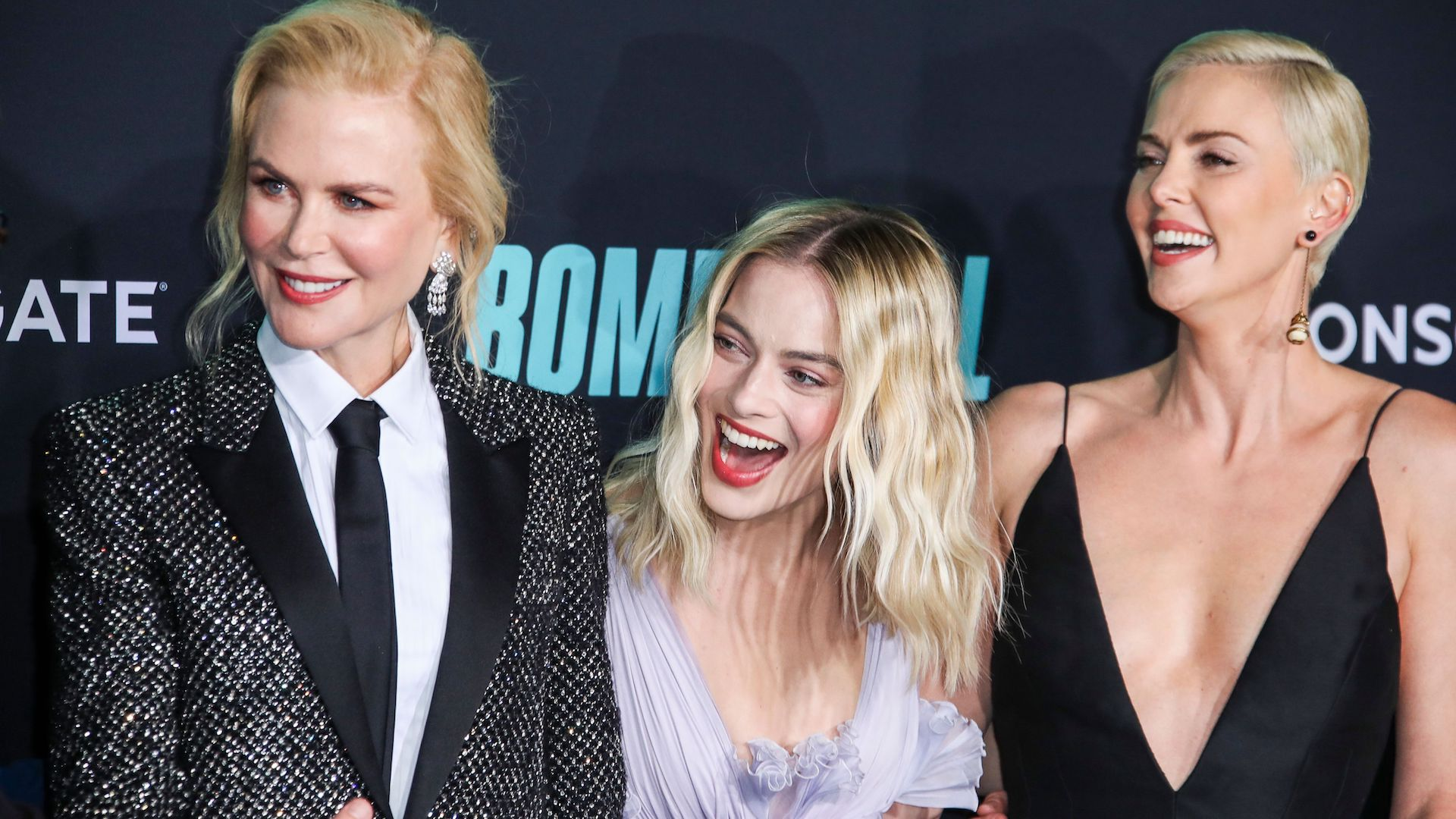 Nicole Kidman, Margot Robbie and Charlize Theron Absolutely *Stunned* at the 'Bombshell' Premiere