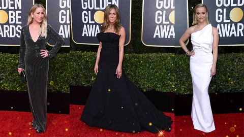 Jennifer Aniston Reunited With Her 'Friends' Sisters at the Golden Globes | StyleCaster