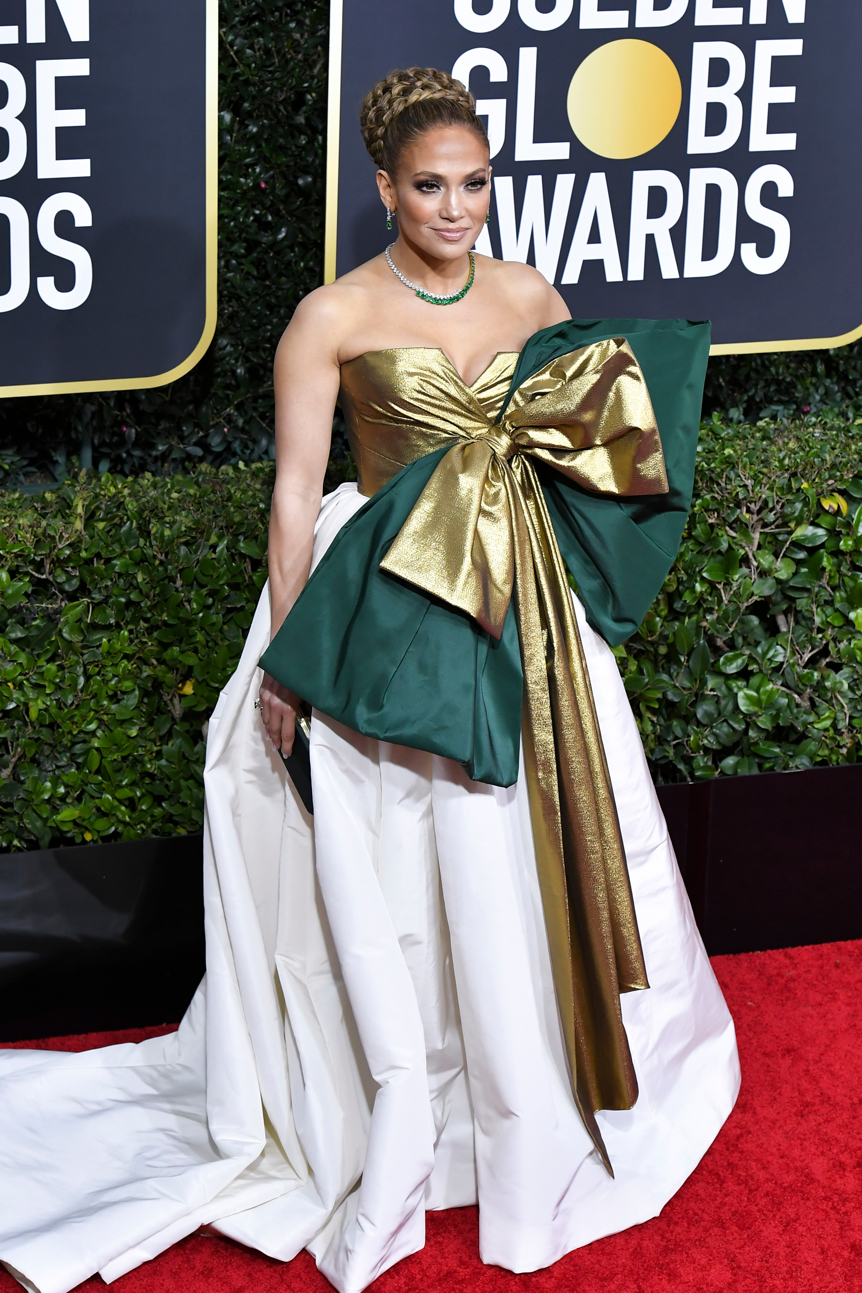 STYLECASTER | Jennifer Lopez Golden Globes Dress