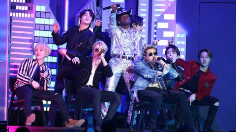 Wow, BTS Came Along for the Wild 'Old Town Road' Ride in Lil Nas X's Grammys Performance | StyleCaster