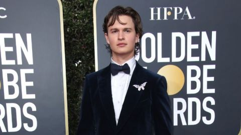 We Totally Missed Ansel Elgort's Perfect Shimmery Eyeshadow at the Golden Globes | StyleCaster