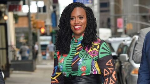 Rep. Ayanna Pressley Revealed Her Bald Head in a Powerful New Video About Alopecia | StyleCaster