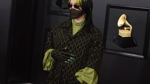 Even Billie Eilish's Nails are Gucci Green at the Grammys | StyleCaster