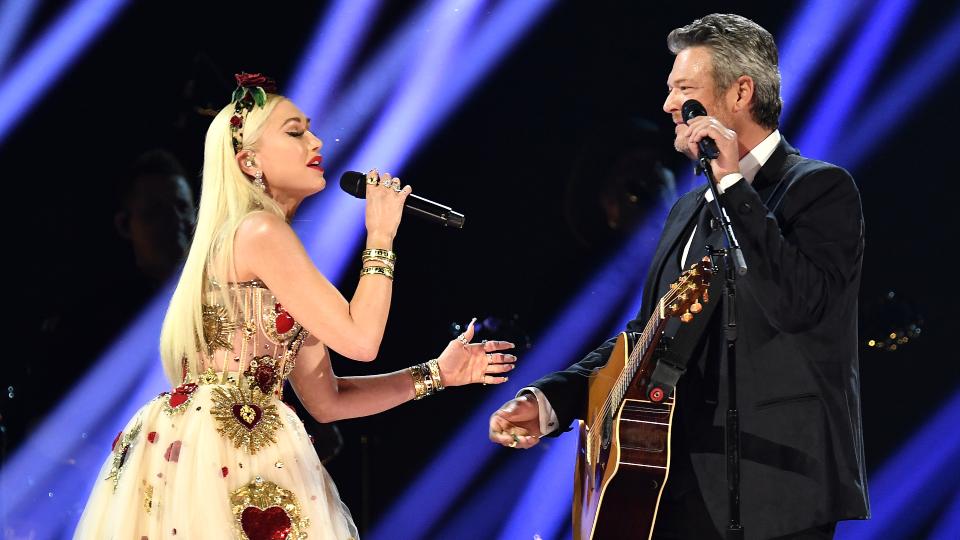 Blake Shelton & Gwen Stefani at Grammys 2020