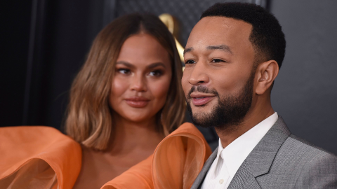Chrissy Teigen & John Legend Look Cute AF at the Grammys & That's All   StyleCaster