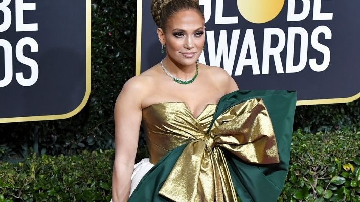 You Have to See Jennifer Lopez's Golden Globes Hair From the Back
