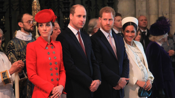 Kate Middleton, Prince William, Prince Harry, Meghan Markle