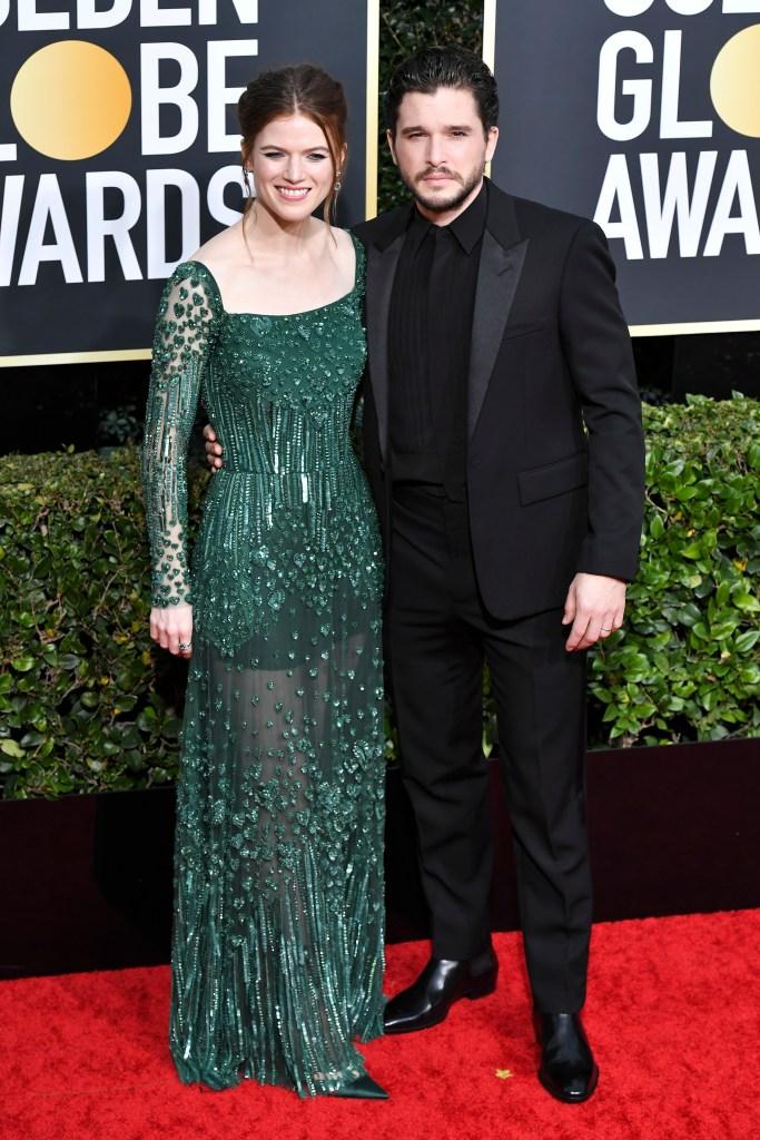 Kit Harington, Rose Leslie, 2020 Golden Globes