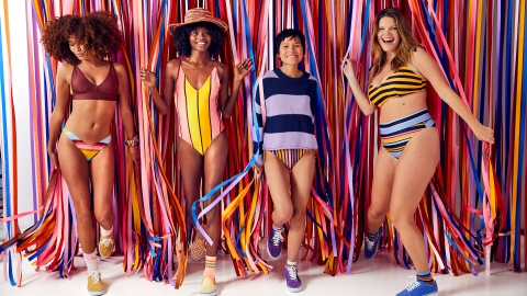 Aerie Just Debuted a Super Cute Eco-Friendly Swim Collection, & We're Ready to Dive In | StyleCaster