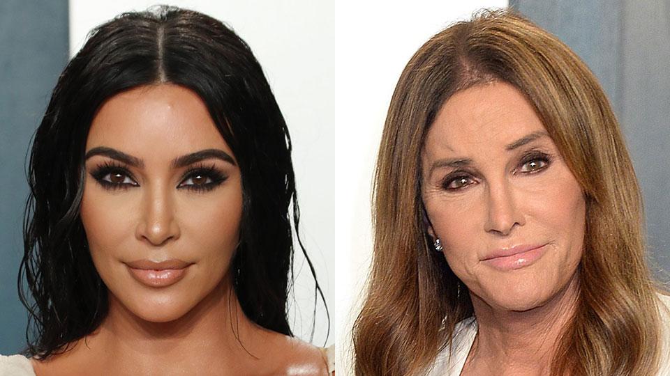 Kim Kardashian & Caitlyn Jenner Vanity Fair Oscars Party 2020