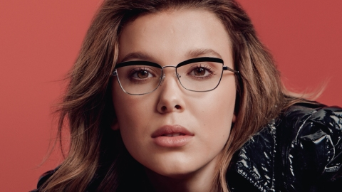 The Millie Bobby Brown x Vogue Eyewear Drop Proves Glasses Are A Girl's Best Friend   StyleCaster