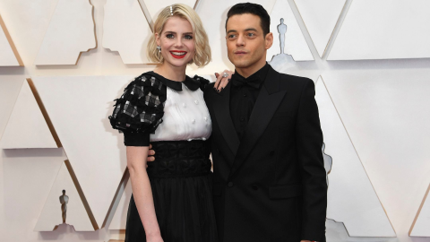 Rami Malek & Lucy Boynton's Are Our New Fave Couple at the Oscars | StyleCaster