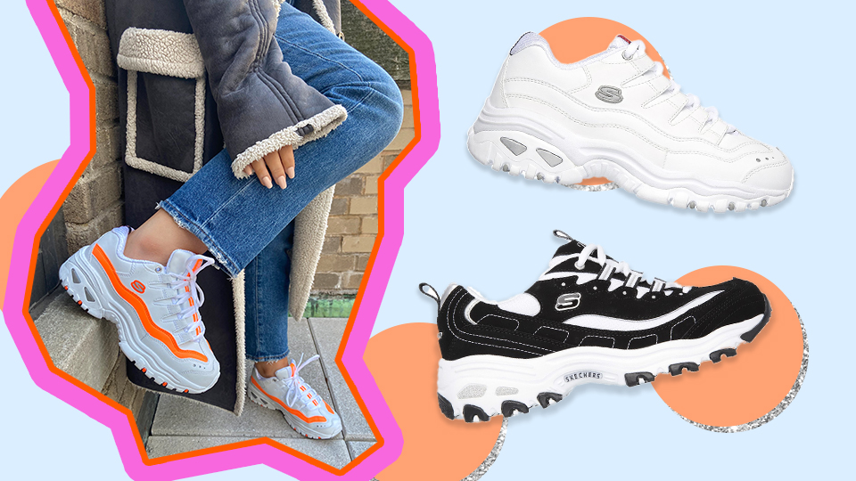Correa Glosario ejemplo  Skechers D'Lite & Energy Review: The Sneakers You Need For 2020 |  StyleCaster